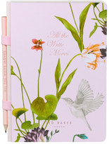 Ted Baker All the Write Moves Flower Notebook with Pencil