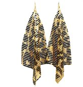 Comelyjewel Jewelry Chunky Pattern Mesh Charm Party Leopard Print Drops Earring