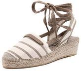 La maison de l'espadrille LA MAISON DE L'ESPADRILLE New La Maison De L'espadrille 546 Ecru Linen Womens Shoes Casual Sandals Heeled