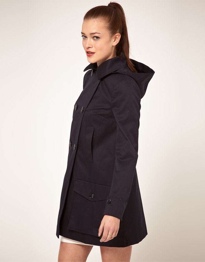 Asos Hooded Duffle Trench