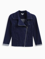 Splendid Girl Indigo Denim Moto Jacket