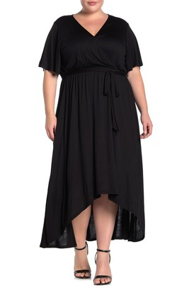 WEST KEI Solid High/Low Dress (Plus Size)