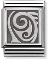 Nomination Composable Women's Bead Symbols Abstract Symbol Oxidised 332110/04