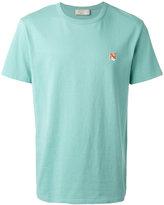 MAISON KITSUNÉ embroidered fox T-shirt - men - Cotton - S