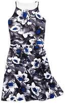 Aqua Girls' Fit-and-Flare Floral Dress, Big Kid - 100% Exclusive