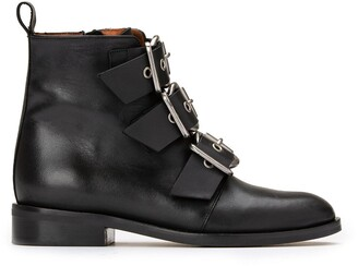 Jonak Dirce Leather Buckled Ankle Boots