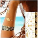 Amy Choice Waterproof Temporary Tattoo Body nail Art eye Tattoo Sticker For Pineapple Pattern beauty