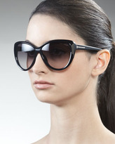 Tom Ford Malin Cat-Eye Sunglasses, Black