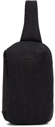 Diesel Black and Indigo Denim D-Subtoryal Mono Backpack
