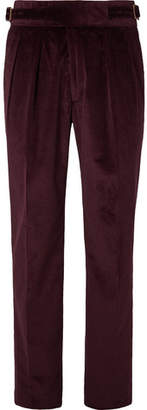 Rubinacci Manny Pleated Cotton-Blend Corduroy Trousers