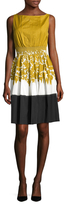 Prada Cotton Pleated Sleeveless Flared Dress