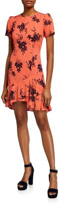 MICHAEL Michael Kors Bouquet Floral-Print Flounce Dress