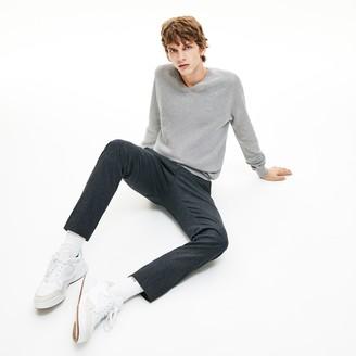 Lacoste Men's V-neck Cotton Pique Sweater