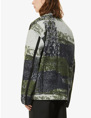 Oamc Combat graphic-print wool jacket
