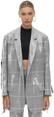 In The Mood For Love Oversized Sequined Jacket W/ Fringes
