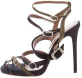 Tabitha Simmons Buckled Round-Toe Sandals