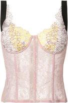 Natasha Zinko lace corset top - women - Cotton/Nylon - 36