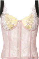 Natasha Zinko lace corset top - women - Nylon/Cotton - 36