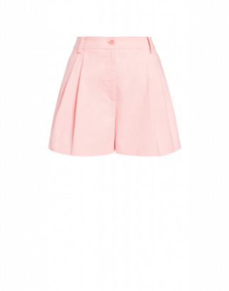 Moschino Heavy Cotton Canvas Shorts Woman Pink Size 38 It - (4 Us)