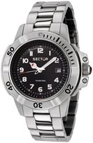 Sector Men's 240 Black Dial Stainless Steel