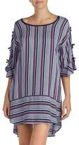 Kensie Stripe Quarter-Sleeve Nightgown
