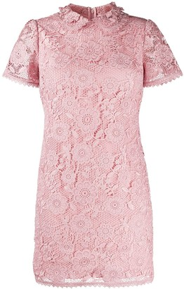 RED Valentino Lace Overlay Silk Dress