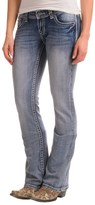 Rock & Roll Cowgirl Rival Rhinestone and Crystal Rivet Jeans - Low Rise, Bootcut (For Women)