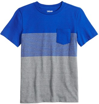 Urban Pipeline Boys 8-20 & Husky Color Block Pocket Tee