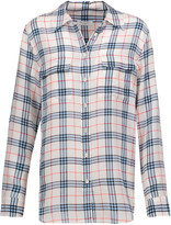 Equipment Slim Signature plaid washed-silk shirt