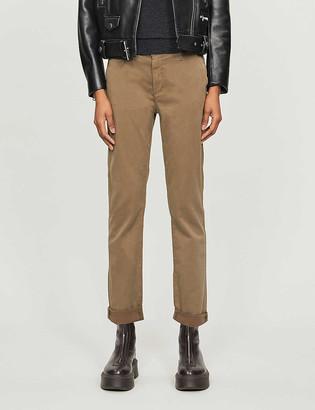 AG Jeans Caden straight-leg mid-rise cotton-blend trousers