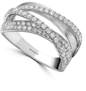 Effy Diamond Crossover Statement Ring (5/8 ct. t.w.) in 14k White Gold
