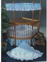 Babydoll Soft Pique Corner Crib Bedding - color blue by Baby Doll