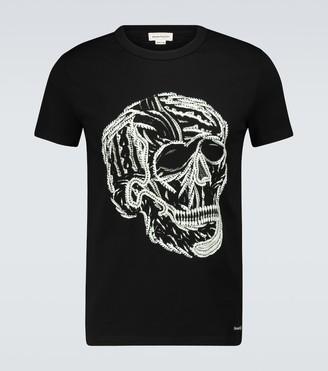 Alexander McQueen Skull printed cotton T-shirt