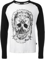 Just Cavalli skull print longsleeved T-shirt - men - Cotton - XL
