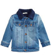 First Impressions Sherpa Fleece-Lined Denim Jacket, Baby Boys (0-24 months), Created for Macy's