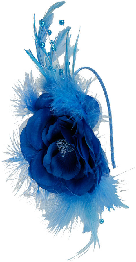 Forever 21 Flower & Feathers Headband