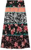 Gucci Patchwork print ruffle skirt