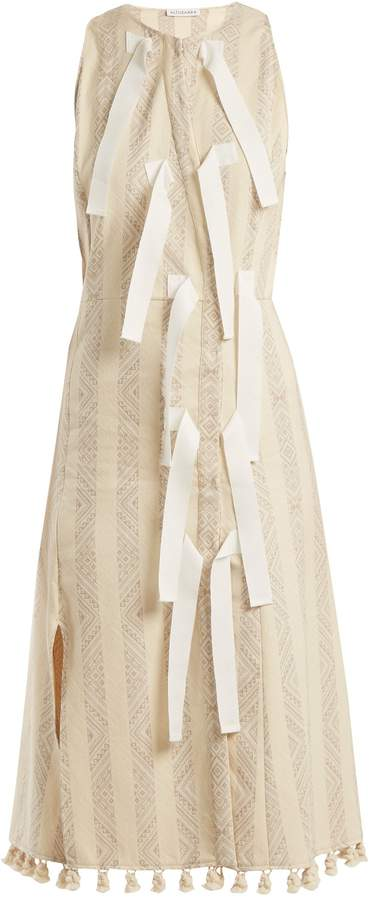 Altuzarra Blanche diamond-jacquard dress