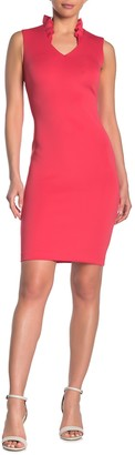 Calvin Klein Split Neck Bodycon Dress