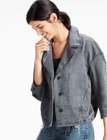 Lucky Brand Stretch Cotton Lapel Jacket