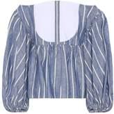 Caroline Constas Linen and cotton top