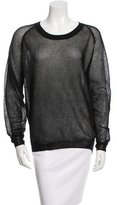 Reed Krakoff Long Sleeve Crew Neck Top