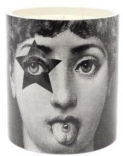 Fornasetti Star Lina Scented Candle - Grey