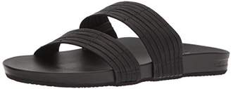 Reef Women's Cushion Bounce Slide Flip Flops, Black (Black Bla)