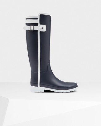 Hunter Women's Refined Slim Fit Contrast Tall Rain Boots