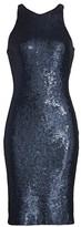 Halston Sequin Sheath Dress
