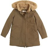 Nice Things Cotton Twill Blend & Faux Shearling Coat