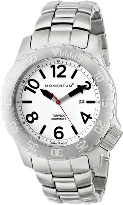 Momentum Mens Sports Watch | Torpedo Dive Watch by | Stainless Steel Watches for Men | Analog Watch with Japanese Movement | Water Resistant (200M/660FT) Classic Watch - Lume / 1M-DV74L0