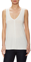James Perse Solid V-Neck Sleeveless Top