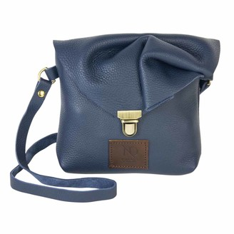 N'damus London Emily Rose Mini Navy Leather Crossbody Bag